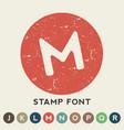 circular retro stamp template vector image