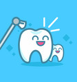 dentistry banner cleaning teeth vector image vector image