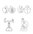 design of genetic and science symbol set vector image