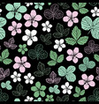 dewberry blossom-flowers in bloom seamless repeat vector image
