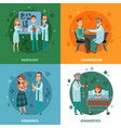 doctors and patients design concept vector image