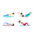 fitness concept of woman fitness and vector image