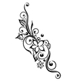 Flowers tendril vector image vector image