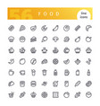 food line icons set vector image vector image