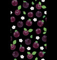 fresh purple plum seamless pattern with white vector image vector image