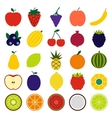 Fruits flat icons vector image vector image