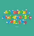 funny uppercase font vector image vector image