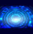 futuristic interface hud techno circle abstract vector image vector image