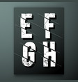 glitch letter font template vector image vector image