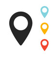 gps location map pointer icon vector image