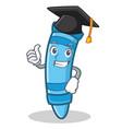 graduation crayon character cartoon style vector image