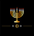 happy hanukkah symbol- jewish holiday celebration vector image vector image