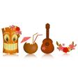 Hawaiian icons vector image vector image