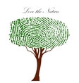 Heart green tree with finger prints EPS vector image vector image