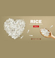 heart rice realistic detailed 3d vector image