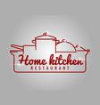 home kitchen restaurant line logo vector image