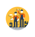 House painting workers construction people vector image