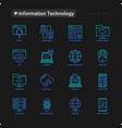 information technology thin line icons set vector image vector image