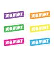 job hunt set vector image
