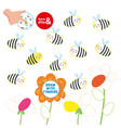 kids finger drawing paper play bee picture vector image vector image