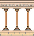 knossos palace architecture elements wall and vector image vector image