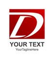letter d flat design logo royal hotel premium vector image vector image