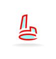 Letter L building logo vector image vector image
