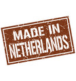 made in netherlands stamp vector image vector image