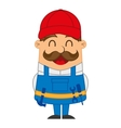 mechanic man character icon vector image