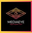 media eye logo vector image vector image