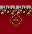 merry christmas and happy new year web banner vector image