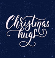 merry christmas brush lettering typography vector image vector image