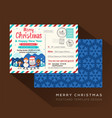 merry christmas postcard invitation card design vector image