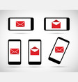 mobile cell phone in an envelope set vector image vector image