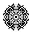 monochrome flower mandala vintage decorative swirl vector image vector image