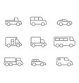 monochrome set with transport icons vector image
