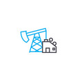 oil production linear icon concept oil production vector image