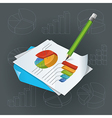 Paper with charts and pencil vector | Price: 3 Credits (USD $3)