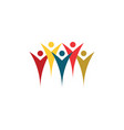 people group crowd social logo icon design vector image vector image