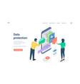 People using protected data man browsing folder