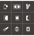 Photo icon set vector image