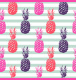 pineapple summer fruit striped seamless pattern vector image vector image