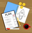 plan and invest in startup vector image