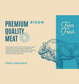 premium quality buffalo abstract meat vector image vector image