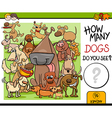 preschool counting task with dogs vector image vector image