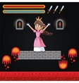 Princess and videogame design vector image vector image