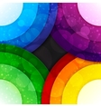 Rainbow paper layers circles and transparent bokeh vector image