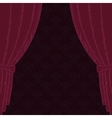 Red Curtain retro shop poster vector image