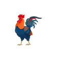 rooster cock bird farm agriculture poultry icon vector image