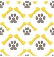 Seamless Bones for Dog Pattern vector image vector image